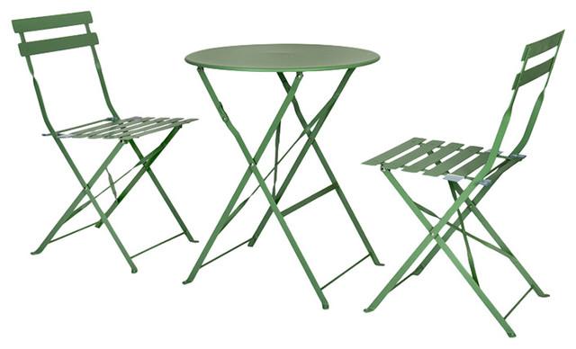 Rive Droite 3-Piece Green Bistro Set