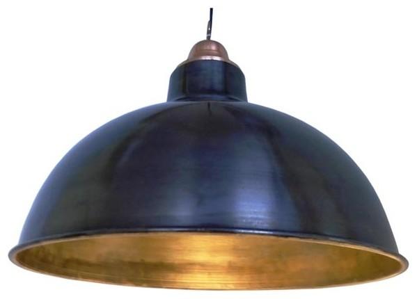 Polished Industrial Pendant Light, Large