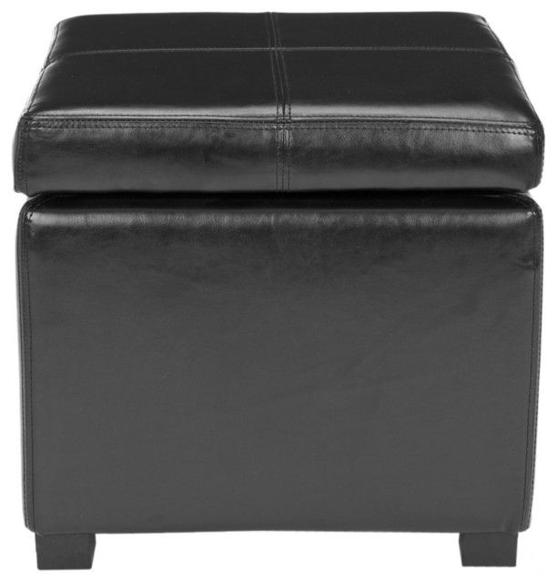 Madison Square Ottoman - Black by Safavieh