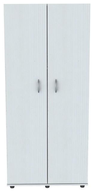 Inval 2-Door Armoire, Larcinia, White.