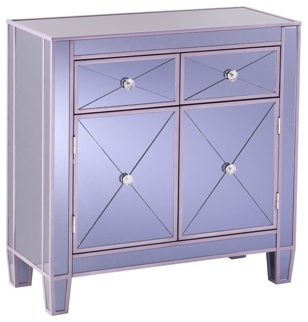 Mirage Mirrored Cabinet, Purple - Contemporary - Accent Chests And Cabinets - by ShopLadder