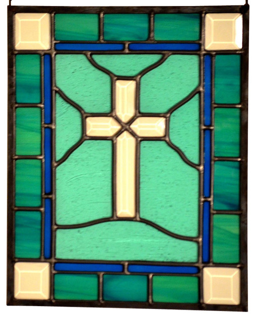 Stained Glass Panel Religious Glass Panel Leaded Stained