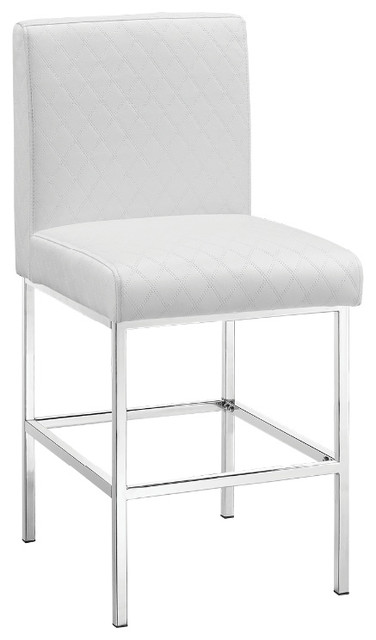 Clarey Black Quilted Diamond Counter Stool Contemporary