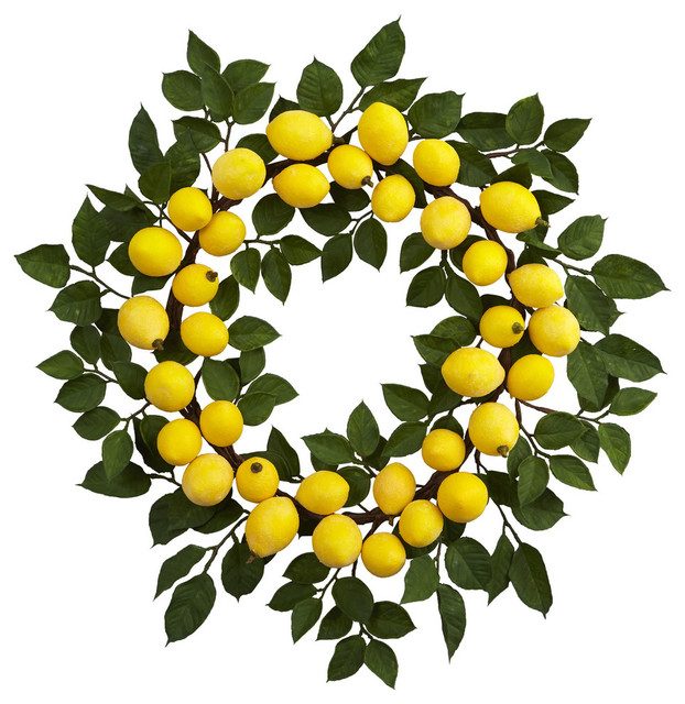Lemon Wreath in Green and Yellow