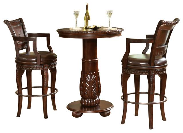 steve silver antoinette 3 piece pub table set traditional indoor pub and bistro sets by. Black Bedroom Furniture Sets. Home Design Ideas