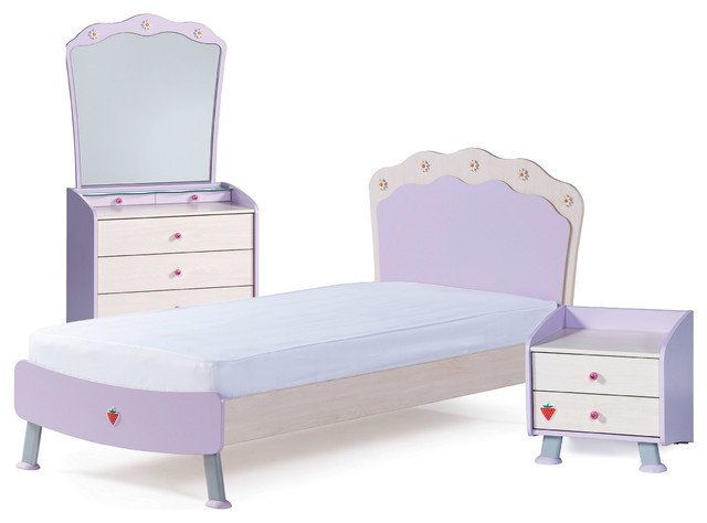 lila 5 piece girls bedroom set contemporary kids. Black Bedroom Furniture Sets. Home Design Ideas