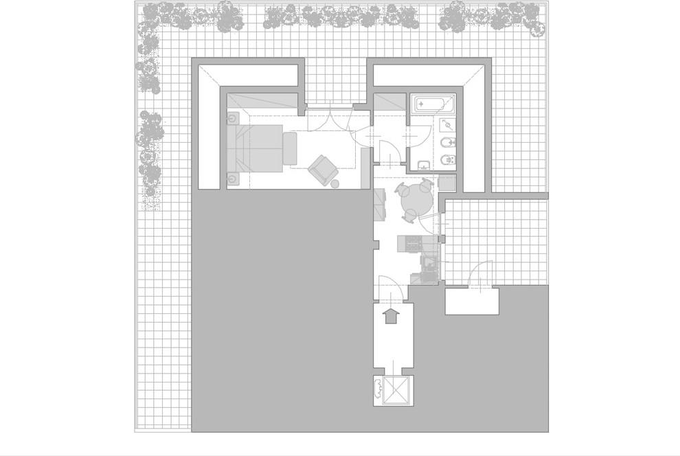 Attico Sempione_Planimetria di progetto