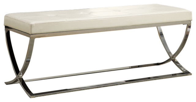 Coaster Bench, White Finish 501157.