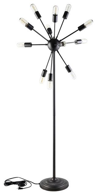 Spectrum Floor Lamp, Black.
