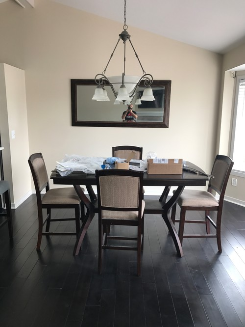 Newly Renovated White And Grey Kitchen In Open Space Now Clashes With My  Cream Furniture And Walls . Any Suggestion For Accent Colors, Pillows ,  Curtains ... Part 49