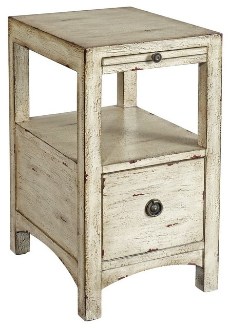 1-Drawer Chairside Table, Textured Sand