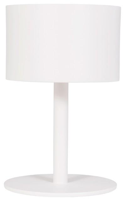 La Lampe Pose Solar Table Lamp, White