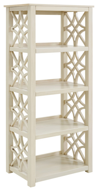 Whitley Antique White Bookcase.