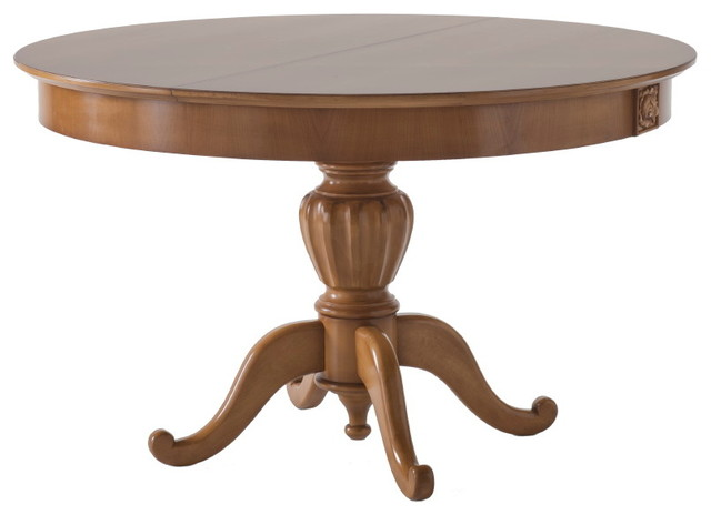 Extendable round table traditional dining tables by for Extendable round dining table