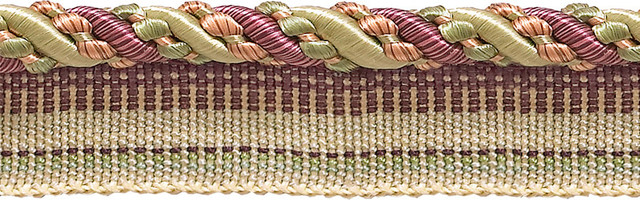 "By The Yard Pink Green LT Green 1.25/"" Brush Fringe Trim Dusty Olive Rose"