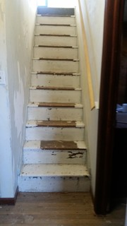 Old farmhouse staircase ,Paint or refinish?