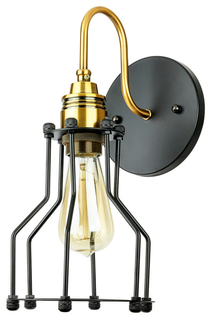 Sunlite Open Cage Canopy Wall Sconce Vintage Copper Bronze - Industrial - Wall Sconces - by BULB ...