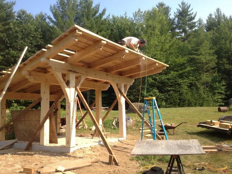 Timber frame outdoor sauna
