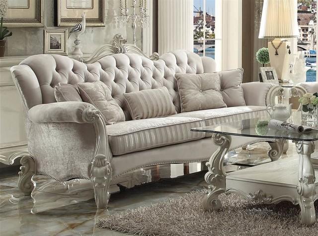 Sofa, Ivory/White