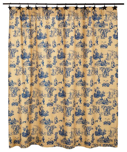Elaine Azure Shower Curtain Asian Shower Curtains