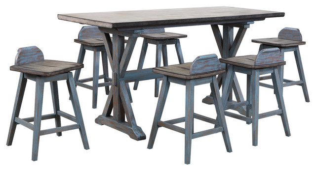 Kristin 7-Piece Counter-Height Dining Set.