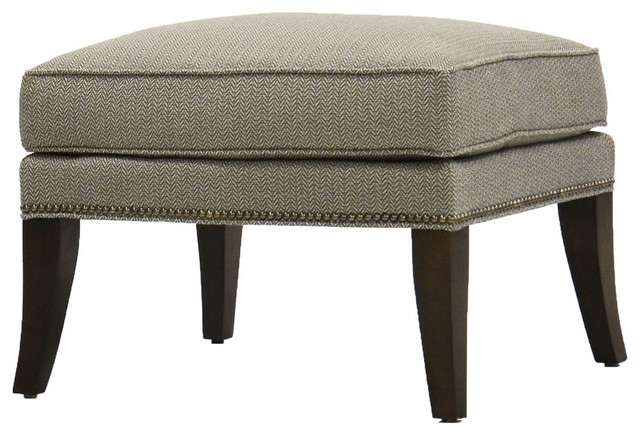 Vanguard Furniture Carnegie Cornflower Duke Ottoman Traditional Footstools  And Ottomans