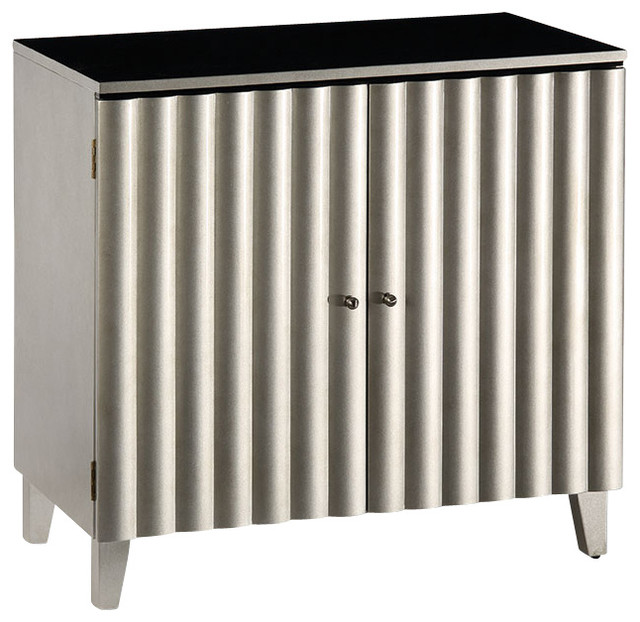 Lacquered Silver Cabinet - Transitional - Accent Chests And Cabinets - by Inviting Home Inc