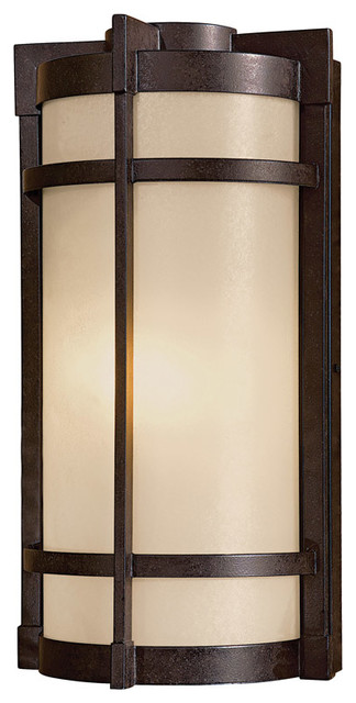 Andrita Court 1-Light Outdoor Wall Lights, Textured French Bronze.