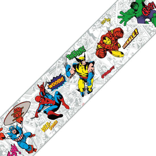 Marvel Comics Classic Heroes Prepasted Wall Border