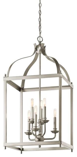 Kichler Lighting 42568NI Larkin Traditional Foyer Chandelier In