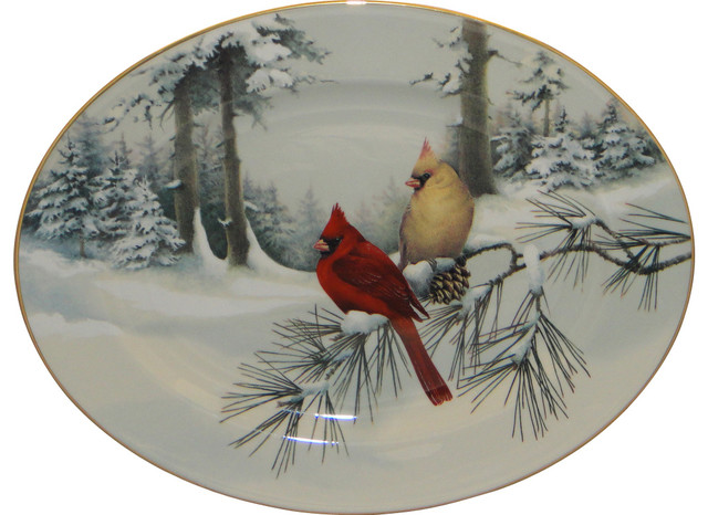 Lenox winter greetings 16 scenic oval platter traditional lenox winter greetings 16 scenic oval platter m4hsunfo