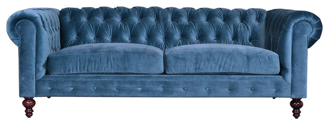 Chesterfield Sofa, Pavo Velvet