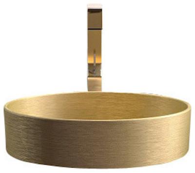 High Quality Pert Rho Brushed Gold Vessel Sink