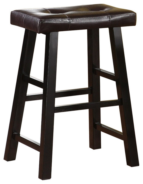 Astonishing Rubber Wood Bar Stool With Rectangular Seat Set Of 2 Black Ncnpc Chair Design For Home Ncnpcorg