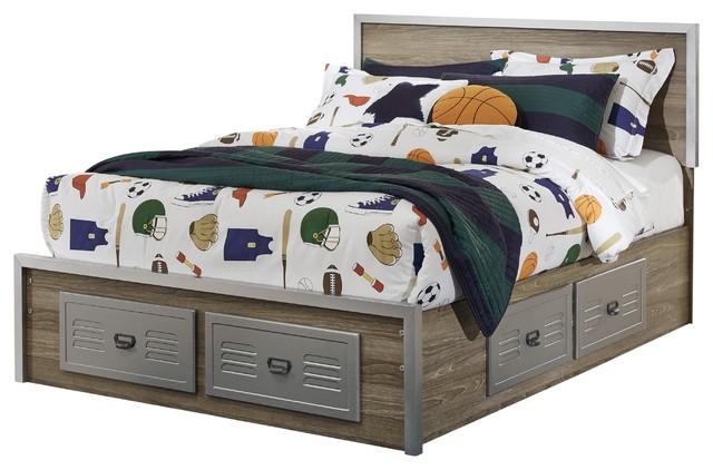 Woodbridge Panel Storage Bed, Full.