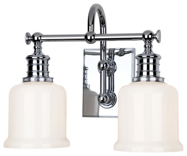 Keswick 2 Light Bath And Vanity With Opal Glossy Glass