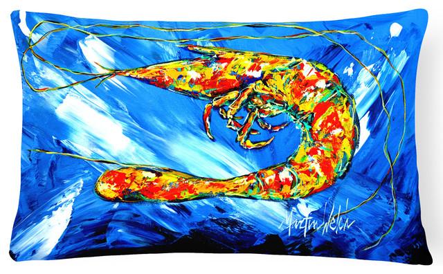 Ice Blue Shrimp Fabric Decorative Pillow Beach Style Outdoor Amazing Ice Blue Decorative Pillows