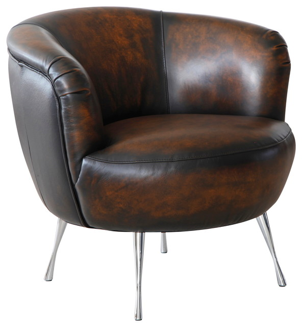 Lazzaro Leather Modena Chair Contemporary Armchairs