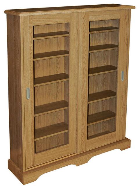 Hampstead 432-CD or 216-DVD Media Cabinet, Oak