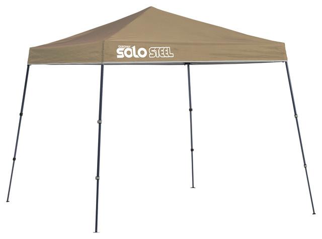Solo Steel 50 9&x27;x9&x27; Slant Leg Canopy, Khaki.