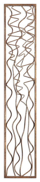 Uttermost Scribble Aged Gold Wall Panel.