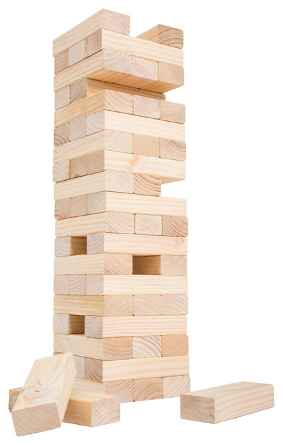 Classic Giant Wooden Blocks Tower Stacking Game Outdoor Yard Game Cool Lawn Game With Wooden Blocks