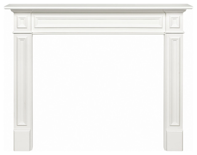 """The Mike 48"""" Fireplace Mantel Mdf White Paint."""