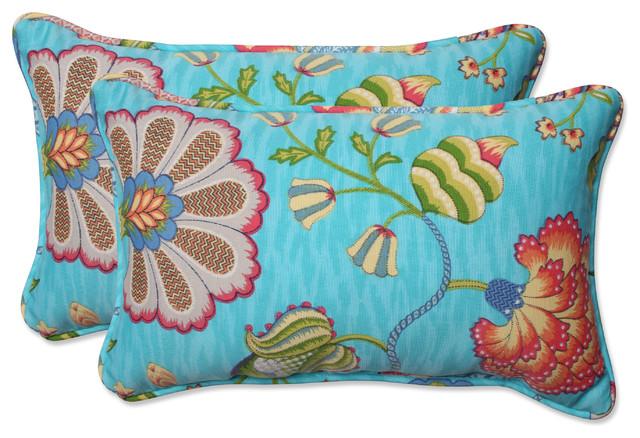arabella caribbean blue rect throw pillow set of 2 185x115x5
