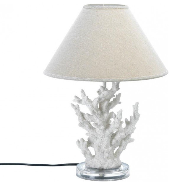 white coral table lamp table lamps by home goods emporium. Black Bedroom Furniture Sets. Home Design Ideas