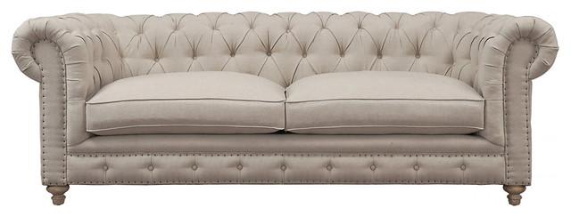 Oxford Linen Sofa Beige