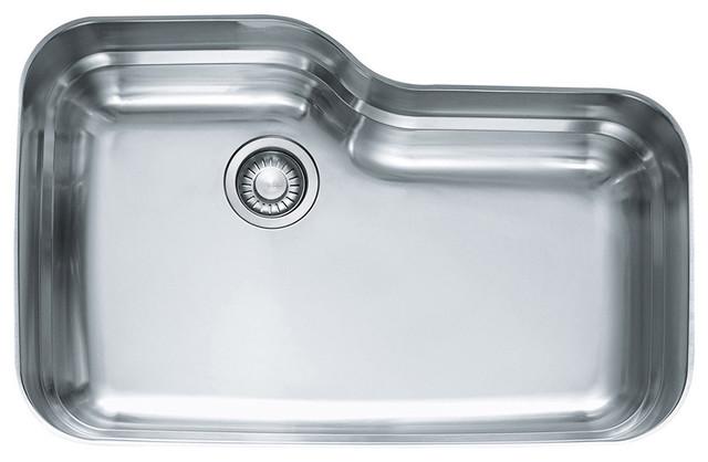 "30""x20""x9"" Franke Orca Undermount Steel Kitchen Sink, Stainless Steel, Orx110."