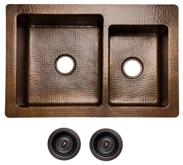 33 Copper Drop In Undermount Sink Drain Bundles
