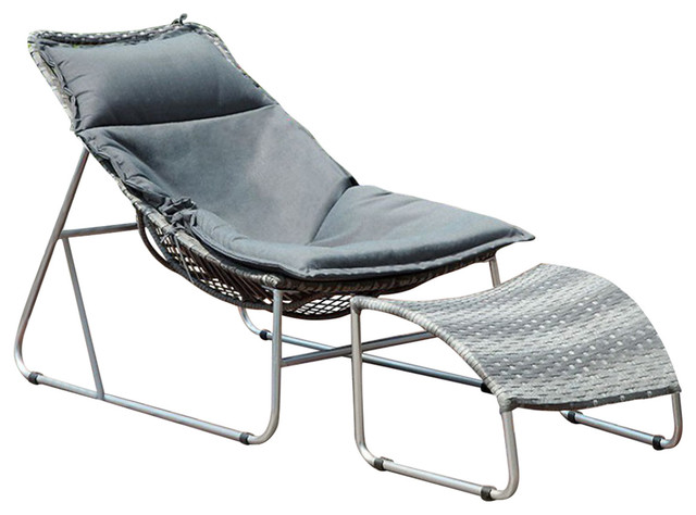 Lili 1pc Patio Chair With 1pc Ottoman.