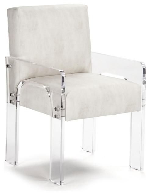 Aniston Modern Art Deco Acrylic Arm Chair